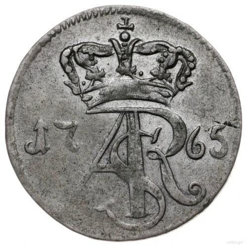 trojak 1765, Toruń; z gwiazdą rozpoczynającą napis na r...