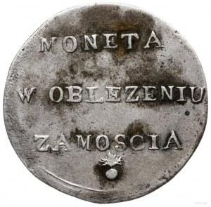 2 złote 1813, Zamość; odmiana z dłuższymi gałązkami wie...