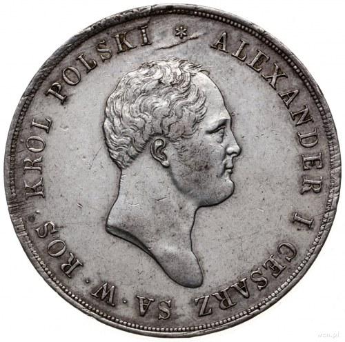 10 złotych 1822 IB, Warszawa; Aw: Głowa cara w prawo i ...