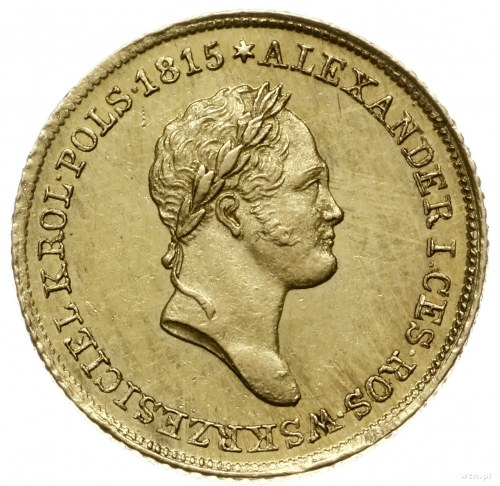 25 złotych 1829 FH, Warszawa; Aw: Głowa cara w prawo i ...