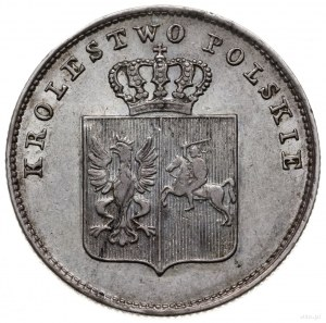 2 złote 1831 KG, Warszawa; odmiana z kropką po POL i Po...