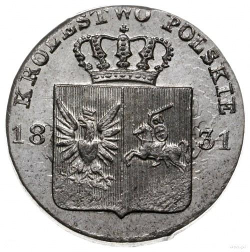 10 groszy 1831, Warszawa; wariant z prostymi łapami Orł...