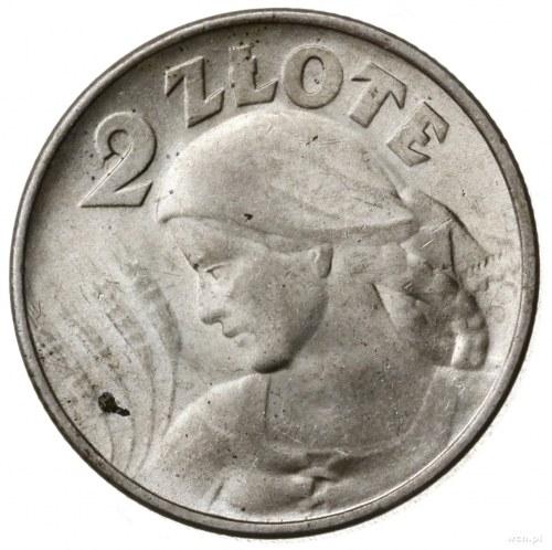 2 złote 1924, Filadelfia; popiersie kobiety z kłosami, ...