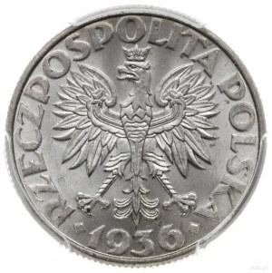 2 złote 1936, Warszawa; żaglowiec; Parchimowicz 112; pi...