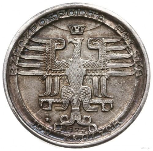 100 złotych 1925, Warszawa; Mikołaj Kopernik, bez napis...