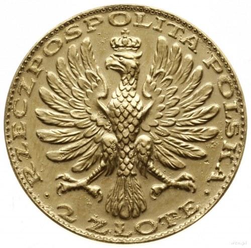 2 złote 1928; Aw: Orzeł Polski z napisem RZECZPOSPOLITA...