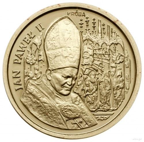 50.000 złotych, 1991, Warszawa; Jan Paweł II na tle ołt...