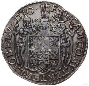 talar 1636, Szczecin; Aw: Popiersie księcia w prawo, na...