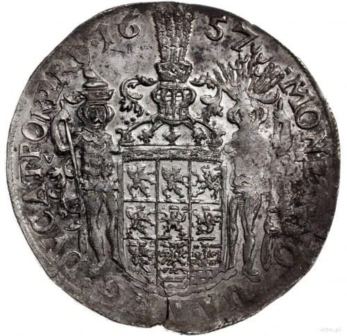 talar 1657, Szczecin; Aw: Popiersie w prawo, wokoło nap...
