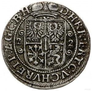 ort 1622, Królewiec; półpostać w mitrze książęcej i zbr...
