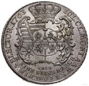 talar 1763, Lipsk; Aw: Popiersie z literą S na ramieniu...