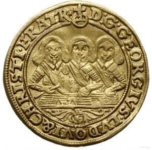 dukat 1654, Brzeg; Aw: Półpostacie trzech braci i napis...