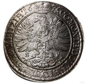 15 krajcarów 1675 SP, Oleśnica; litery S-P (mincerza Sa...