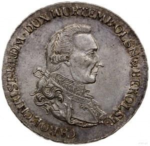 talar 1785 B, Wrocław; Aw: Popiersie w prawo z literą K...