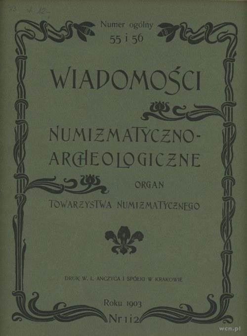 Wiadomości Numizmatyczno-Archeologiczne tom V (1903-190...
