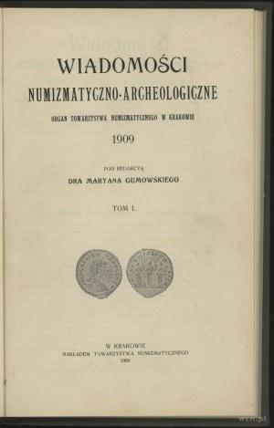 Wiadomości Numizmatyczno-Archeologiczne (1909), Kraków,...