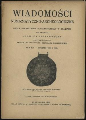 Wiadomości Numizmatyczno-Archeologiczne Tom XIV (1931-1...