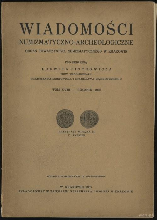 Wiadomości Numizmatyczno-Archeologiczne Tom XVIII (1936...