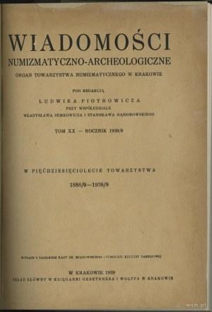 Wiadomości Numizmatyczno-Archeologiczne Tom XX (1938-19...