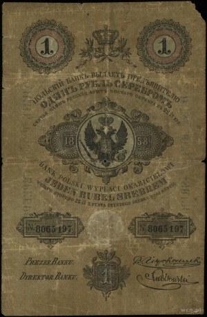 1 rubel srebrem 1858, seria 137, numeracja 8065197, pod...