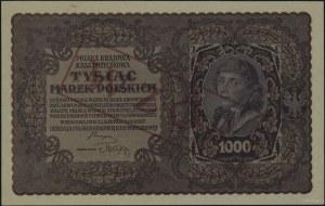 1.000 marek polskich 23.08.1919, czerwony nadruk WZÓR w...
