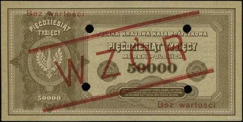 50.000 marek polskich 10.10.1922, obustronnie czerwony ...