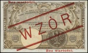 1.000 złotych 28.02.1919, obustronnie czerwony nadruk B...