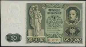 50 złotych 11.11.1936, seria AD, numeracja 1957537; Luc...