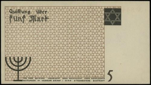 5 marek 15.05.1940, numeracja 844170; Lucow 859 (R3), M...