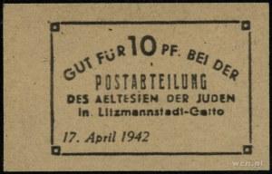 Postabteilung des aeltesten der Juden in Litzmannstadt-...