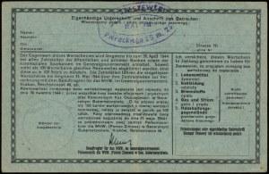 10 złotych 1943-1944; numeracja 027737, niewypełniony b...