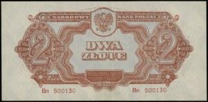 2 złote 1944, w klauzuli OBOWIĄZKOWE, seria Bn 500130; ...
