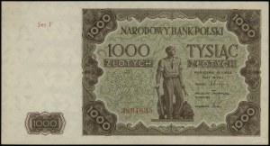 1.000 złotych 15.07.1947, seria F 3804635; Lucow 1235a ...