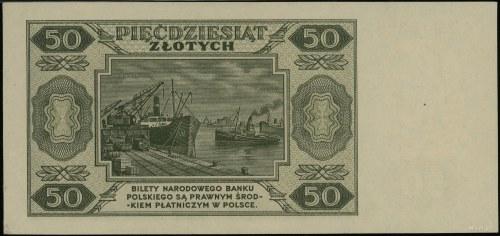 50 złotych 1.07.1948, seria T 118326; Lucow 1282 (R4), ...