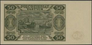 50 złotych 1.07.1948, seria AB 7135692; Lucow 1285 (R2)...