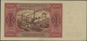 100 złotych 1.07.1948, seria L 670287; Lucow 1295 (R4),...