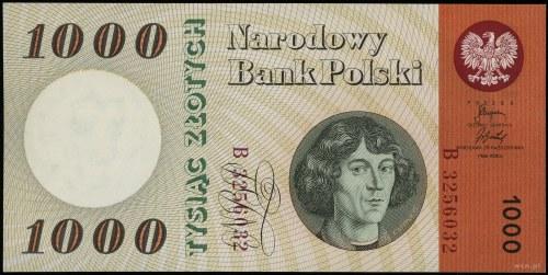 1.000 złotych 29.10.1965, seria B, numeracja 3256032; L...