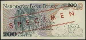 """200 złotych 25.05.1976, czerwony ukośny nadruk """"WZÓR"""" /..."""