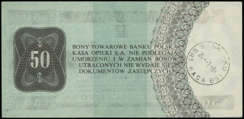 50 dolarów 1.10.1979, seria HJ 0108996; Miłczak B35; ze...