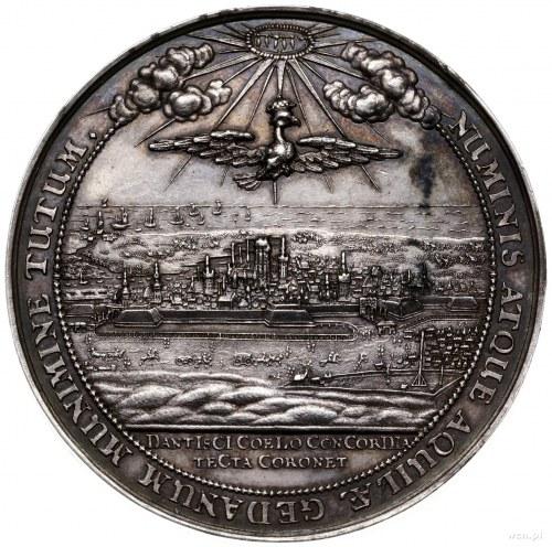 medal autorstwa J. Höhna wybity z okazji przybycia król...