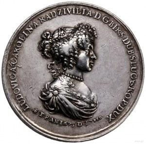 medal z 1675 r. nieznanego autorstwa wybity z okazji os...