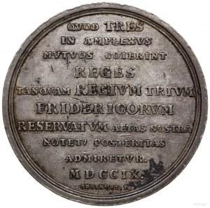 medal z 1709 r. autorstwa Heinricha Paula Groskurta, wy...