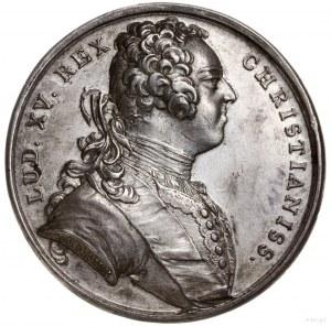 medal z 1725 r. autorstwa du Vivier'a, wybity w Paryżu ...