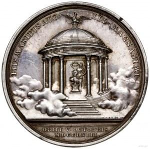 medal z 1763 r. autorstwa F A Schega wybity z okazji śm...
