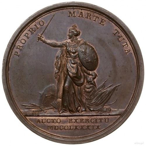 medal z 1789 r. autorstwa Friedricha Loosa ofiarowany k...