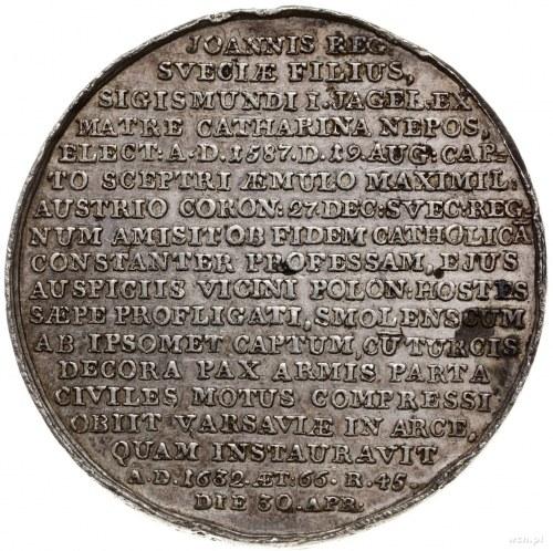 medal z końca XVIII w. (lata 1780-1792) z tzw. serii kr...
