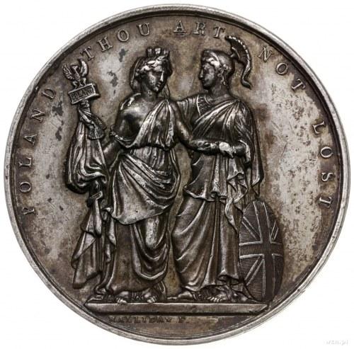 jednostronny medal z 1833 roku autorstwa F. Halliday'a ...