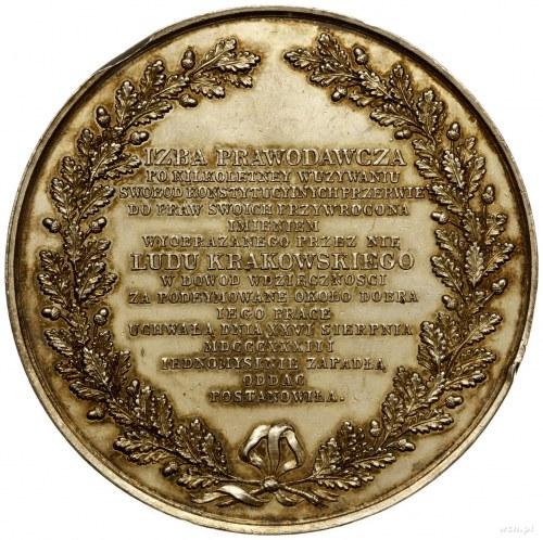 medal z 1833 r. nieznanego autorstwa, ofiarowany przez ...