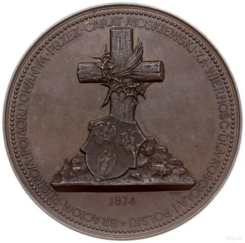 medal z 1874 r. autorstwa Ernesta Paulina Tasseta, wybi...