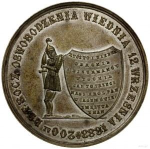 medal z 1883 r. autorstwa A. Schindla wybity na 200-lec...